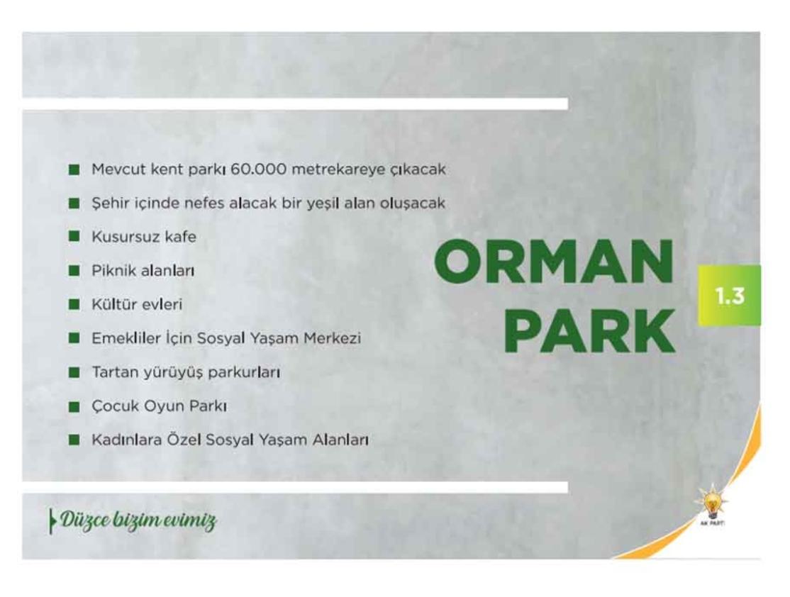 Orman Park Projesi